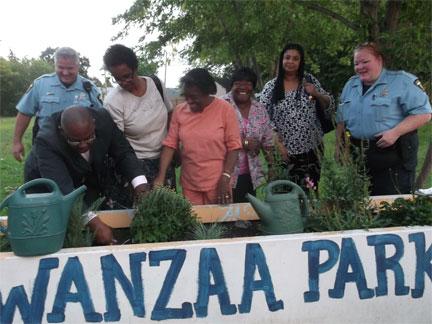 Kwanzaa Park scene